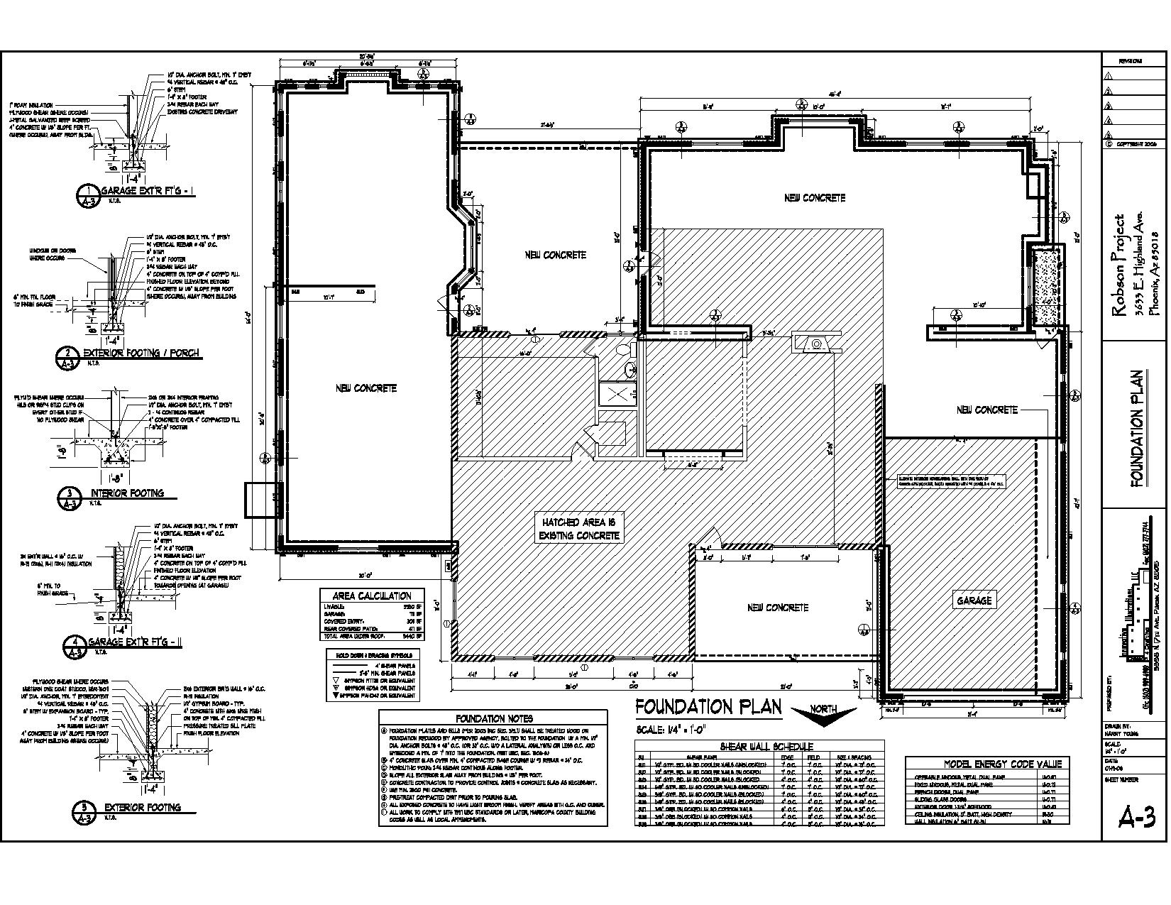Drawings harry young design drafting for Foundation plan drawing